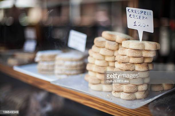 Cookies for sale in bakery