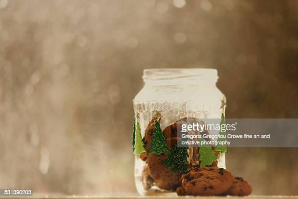 cookies in glass jar - gregoria gregoriou crowe fine art and creative photography. stock-fotos und bilder