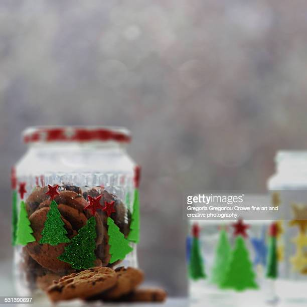 cookies in glass jar - gregoria gregoriou crowe fine art and creative photography. stock pictures, royalty-free photos & images