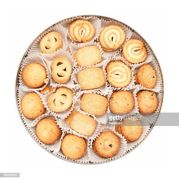 Cookies (Clipping path!) isolated on white background