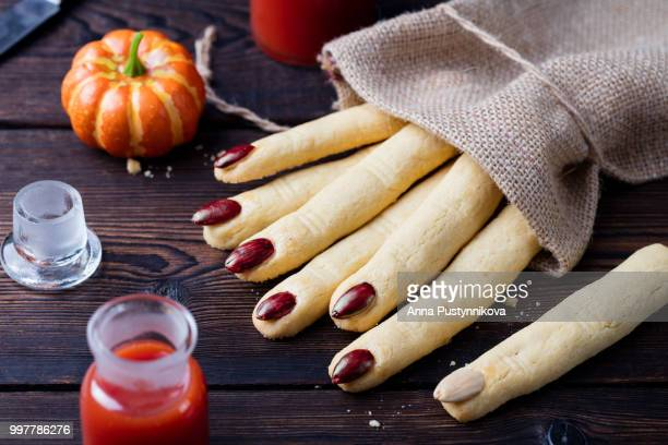 Cookies Witch's fingers for Halloween celebration