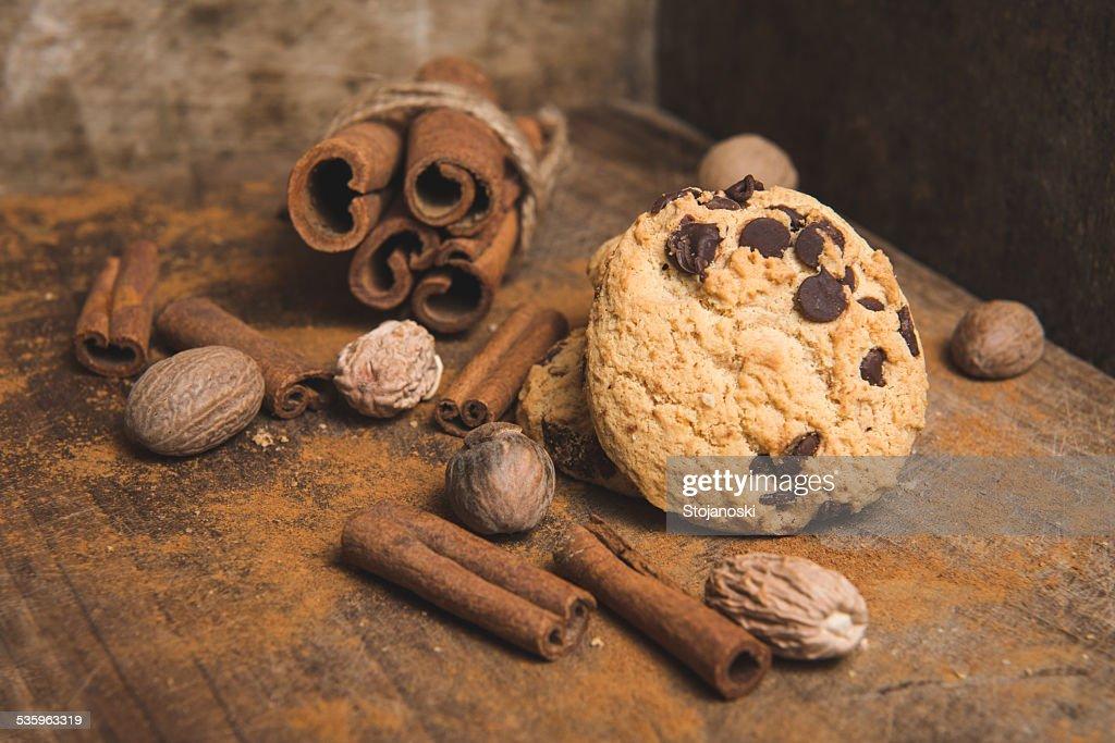 cookies with cinnamon : Stock Photo