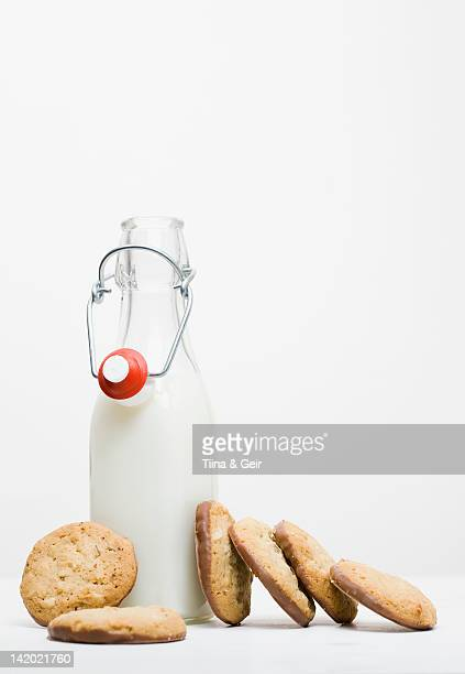 Cookies with jar of milk
