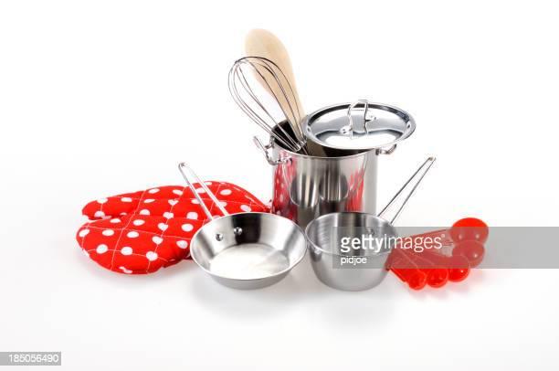 Cocina y utensilios de cocina para niños