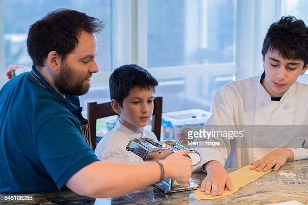 Cooking class for boys