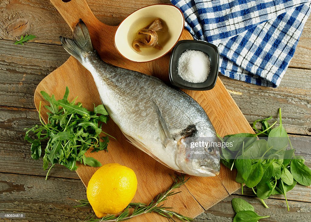 Cooking Dorado Fish : Stock Photo