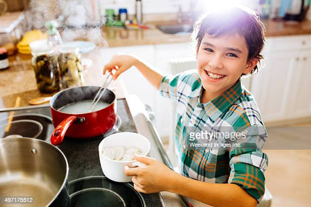 Cooking dumplings for my family