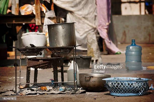 Cooking equipment in IDP Camp