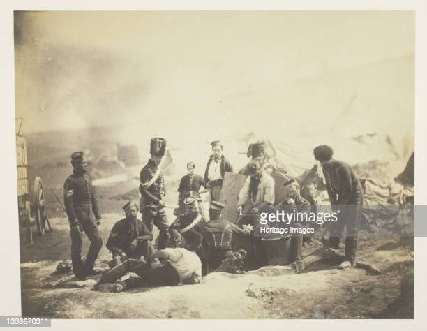 Cooking House of the 8th Hussars, 1855. A work made of salted paper print, plate 51 from the album 'photographs taken in the crimea' . Artist Roger...