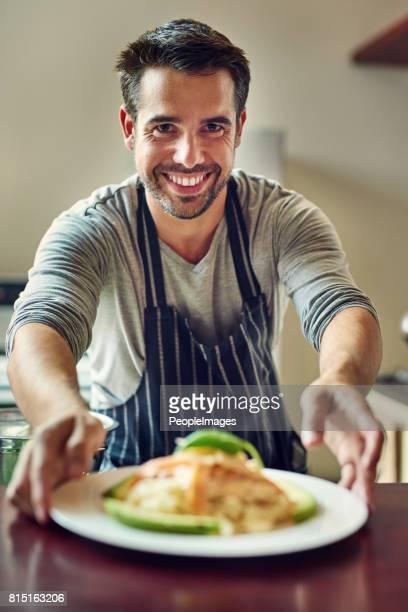 La cuisine est faite de véritables amour