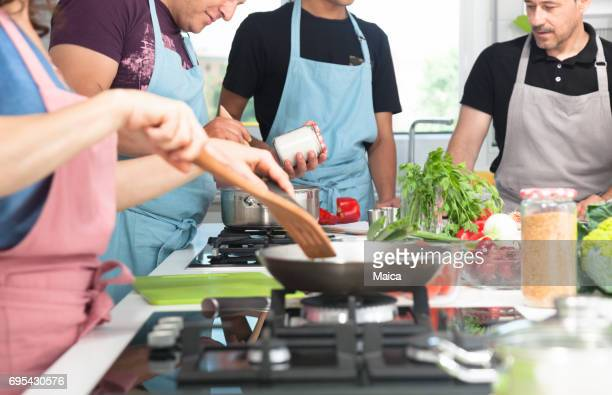 Cooking lesson,group