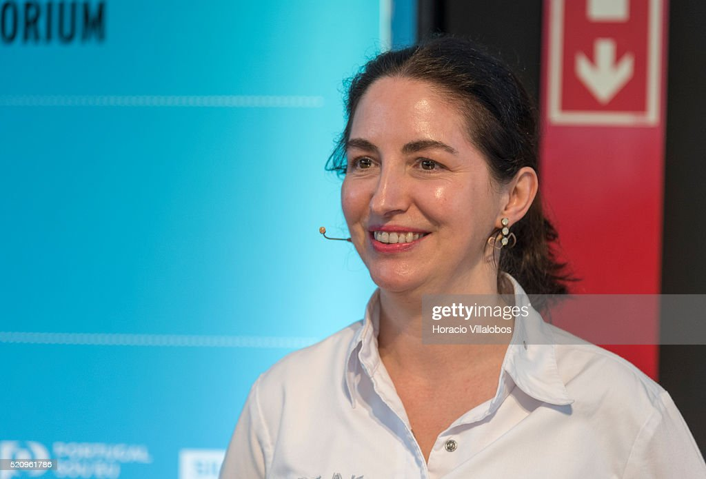 """Cooking show by Spanish 3 star Michelin Chef Elena Arzak at """"Lisbon Fish & Flavors 2016'. : News Photo"""