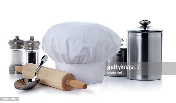 Kochen Zubehör, isoliert auf weiss