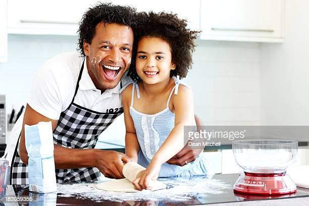 Cozinhar juntos é divertido