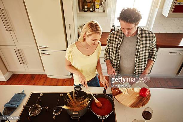 Cooking together is quality time together