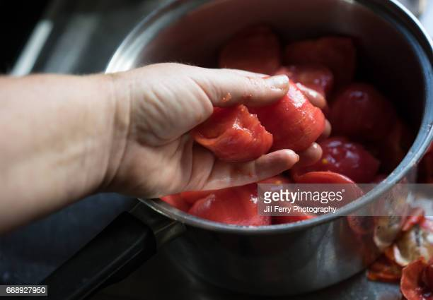 Cooking tomatoes POV