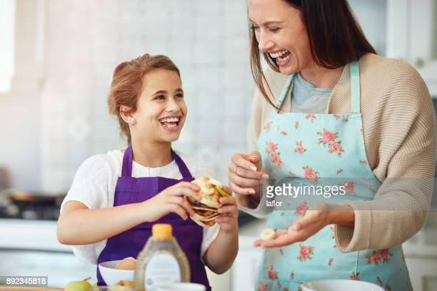 Cooking up something yummy with my mummy
