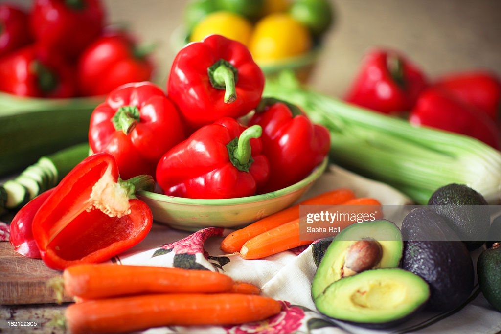 Cooking with Vegetables : Stock Photo