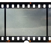 cool 35mm filmstrip or film material on white background