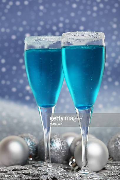 Cool Blue Curacao Winter Cocktails