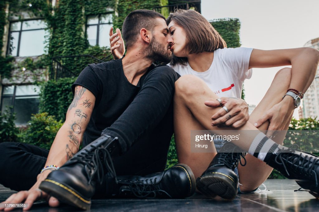 Cool couple in love : Stock Photo