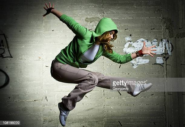 cool dancing girl - hip hop music stock pictures, royalty-free photos & images