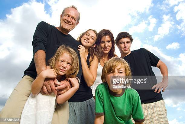 cool family - large family stock pictures, royalty-free photos & images