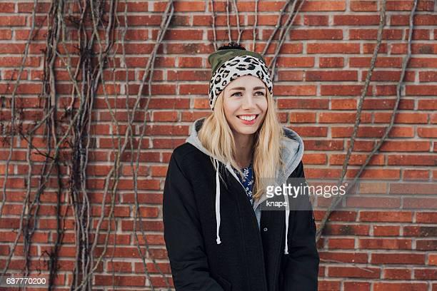 Cool fashionable woman in urban setting