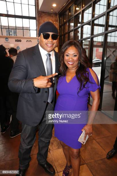Cool J and Angela Kissane attend 2017 Moving Mountains Award Presentation on June 6 2017 in New York City