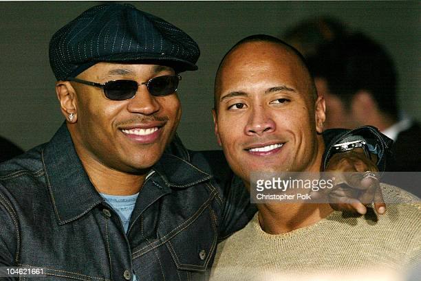 LL Cool J and Dwayne 'The Rock' Johnson during World Premiere of MGM's Bulletproof Monk Arrivals at Grauman's Chinese Theatre in Hollywood CA United...