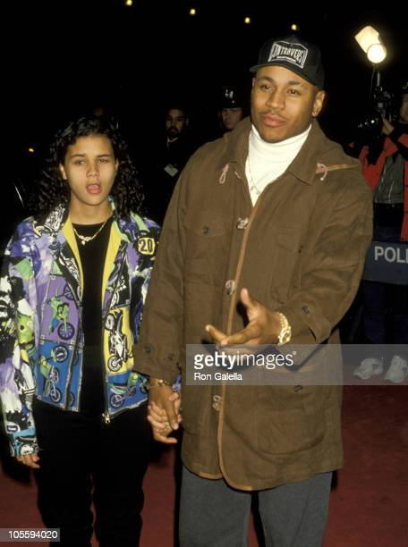LL Cool J and Kinada Jones during 'Toys' New York City Premiere at Ziegfeld Theater in New York City New York United States