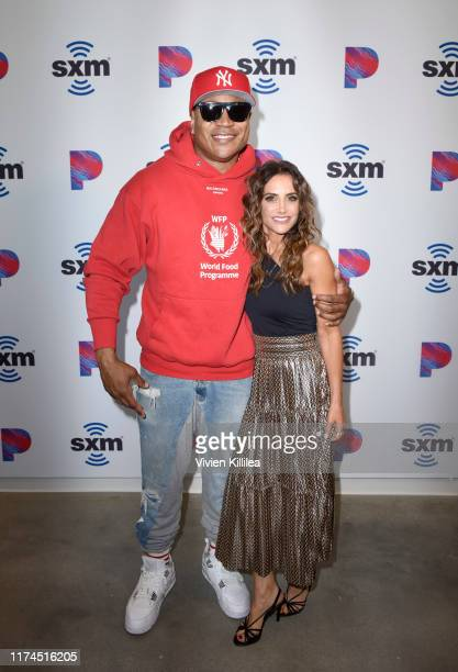 Cool J and SiriusXM Host Emily Morse attends the Opening Of SiriusXM Pandora LA Studios on October 7 2019 in Los Angeles California