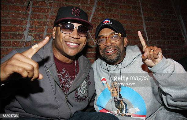 LL Cool J and Spike Lee attend the I AM CHANGE Get Out The Vote party at HOME on October 30 2008 in New York City