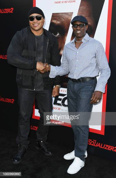 Cool J and Wesley Snipes attend premiere of Columbia Picture's 'Equalizer 2' at TCL Chinese Theatre on July 17 2018 in Hollywood California