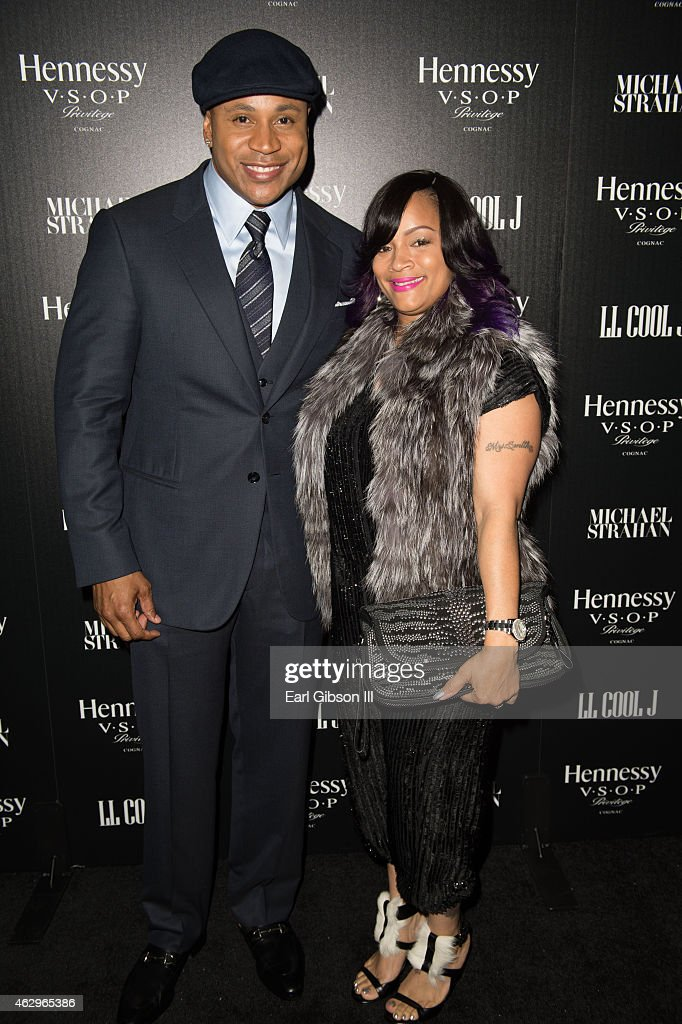 LL Cool J and wife Simone Smith attend the Hannessy Toasts Achievements In Music on February 7, 2015 in Los Angeles, California.