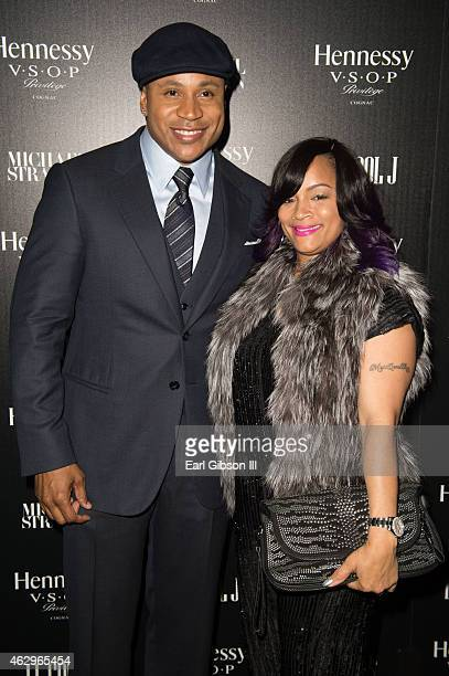 LL Cool J and wife Simone Smith attend the Hannessy Toasts Achievements In Music on February 7 2015 in Los Angeles California