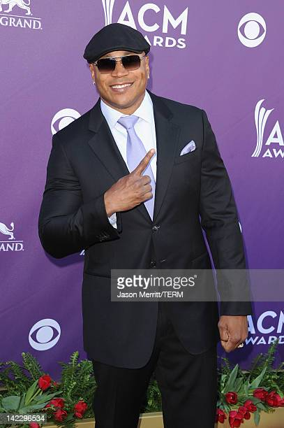 Cool J arrives at the 47th Annual Academy Of Country Music Awards held at the MGM Grand Garden Arena on April 1 2012 in Las Vegas Nevada