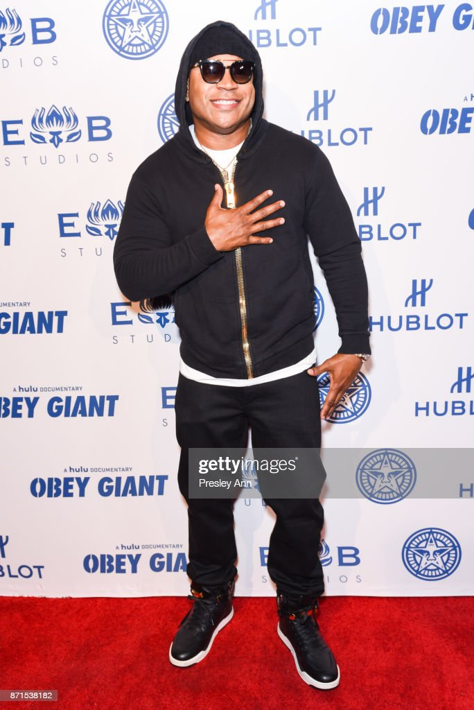 LL Cool J attends Photo Op For Hulu's 'Obey Giant' at The Theatre at Ace Hotel on November 7, 2017 in Los Angeles, California.