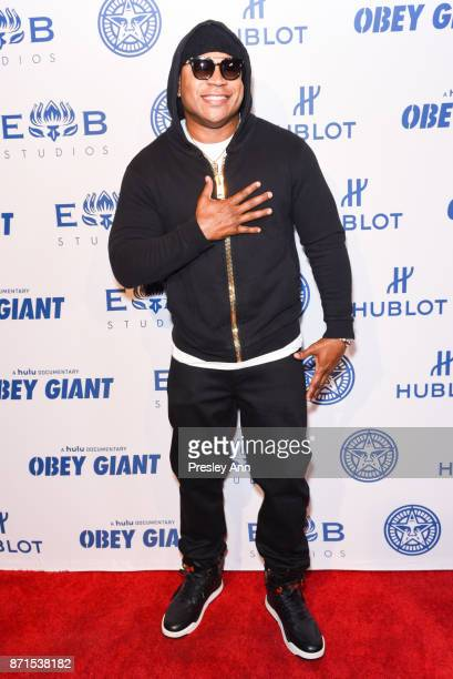 Cool J attends Photo Op For Hulu's 'Obey Giant' at The Theatre at Ace Hotel on November 7 2017 in Los Angeles California