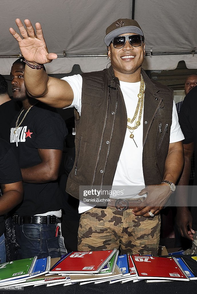 LL Cool J attends the 2nd Annual Worldstar Foundation Back To School Giveaway at Jamaica Colosseum Mall on August 24, 2014 in New York City.