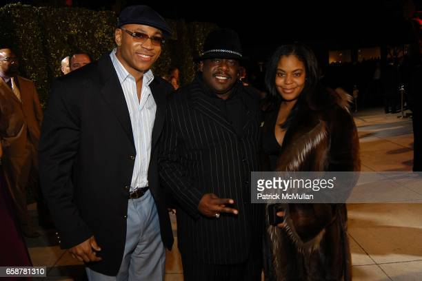 LL Cool J Cedric the Entertainer and Lorna Wells attend the 2004 Vanity Fair Oscar Party at Mortons on February 29 2004 in Beverly Hills California