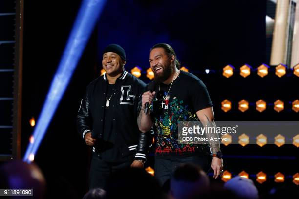 Cool J introduces Denver Broncos nose tackle Domata Peko during MVP MOST VALUABLE PERFORMER during a onehour interactive talent show hosted by LL...