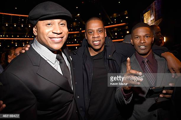 Cool J Jay Z and Jamie Foxx attend Stevie Wonder Songs In The Key Of Life An AllStar GRAMMY Salute at Nokia Theatre LA Live on February 10 2015 in...
