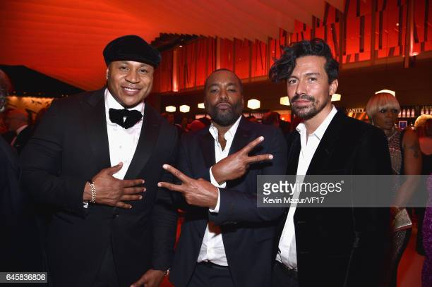 LL Cool J Lee Daniels and Jahil Fisher attend the 2017 Vanity Fair Oscar Party hosted by Graydon Carter at Wallis Annenberg Center for the Performing...