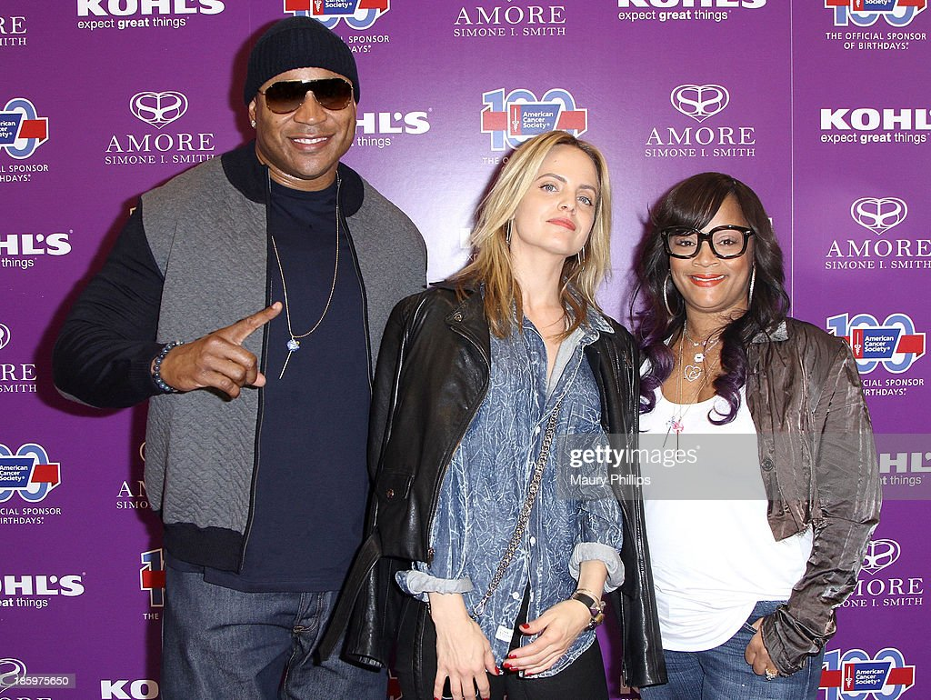LL Cool J, Mena Suvari and Simone I. Smith attend Amore by Simone I. Smith Collection Debut at Kohl's on October 26, 2013 in Los Angeles, California.