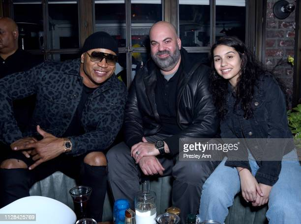 LL Cool J Paul Rosenberg and Alessia Cara attend the Def Jam PreGrammy 2019 party at Catch LA sponsored by Courvoisier Puma Klasse 14 and Tik Tok on...