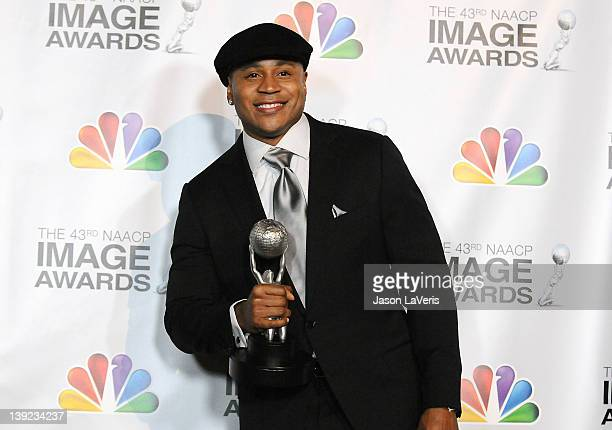 Cool J poses in the press room at the 43rd annual NAACP Image Awards at The Shrine Auditorium on February 17 2012 in Los Angeles California