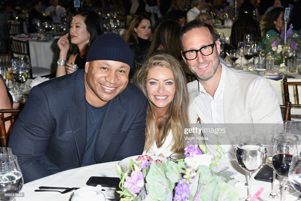 LL Cool J, Rebecca Gayheart-Dane and Richard Weitz at the 17th Annual Chrysalis Butterfly Ball sponsored by Kayne Anderson Capital Advisors Foundation on June 2, 2018.