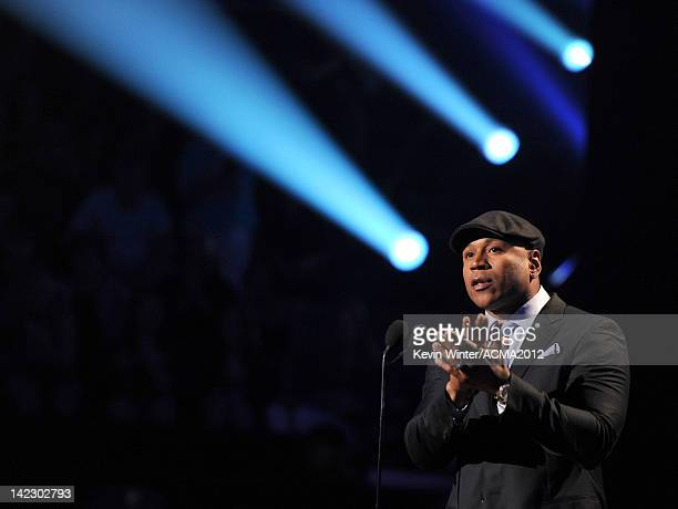 Cool J speaks onstage at the 47th Annual Academy Of Country Music Awards held at the MGM Grand Garden Arena on April 1 2012 in Las Vegas Nevada