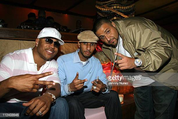 LL Cool J Swizz Beatz and DJ Kahlid during Baby Shower for Lorena Rios Fat Joe's Wife at Cain in New York New York United States